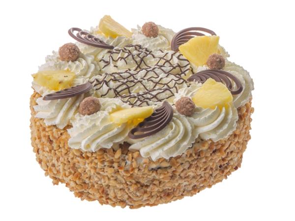 Hazelslag schuim taart rond